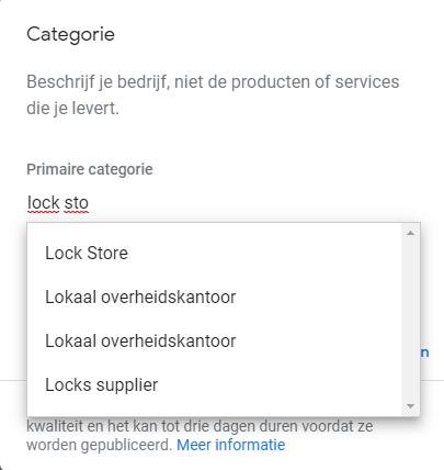 Google voegt 42 nieuwe Categorieën toe aan Google Mijn Bedrijf